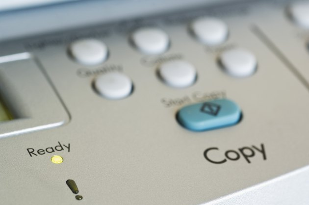 Close-up of control panel on copy machine