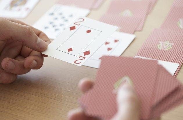 woman plaing cards