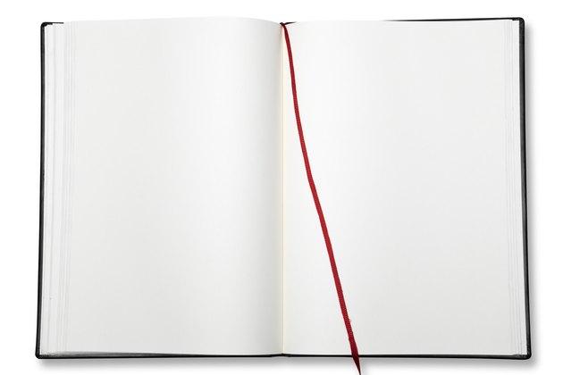 Open blank exercise book.
