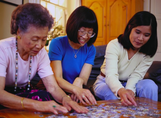 Women with Puzzle