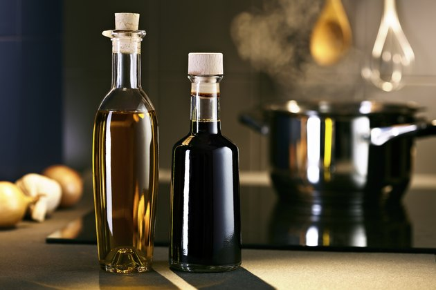 Oil and vingar in kitchen