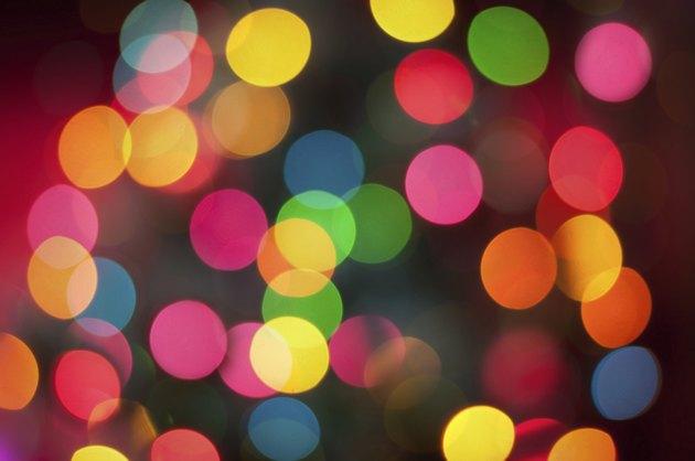 Real bokeh of christmas lights