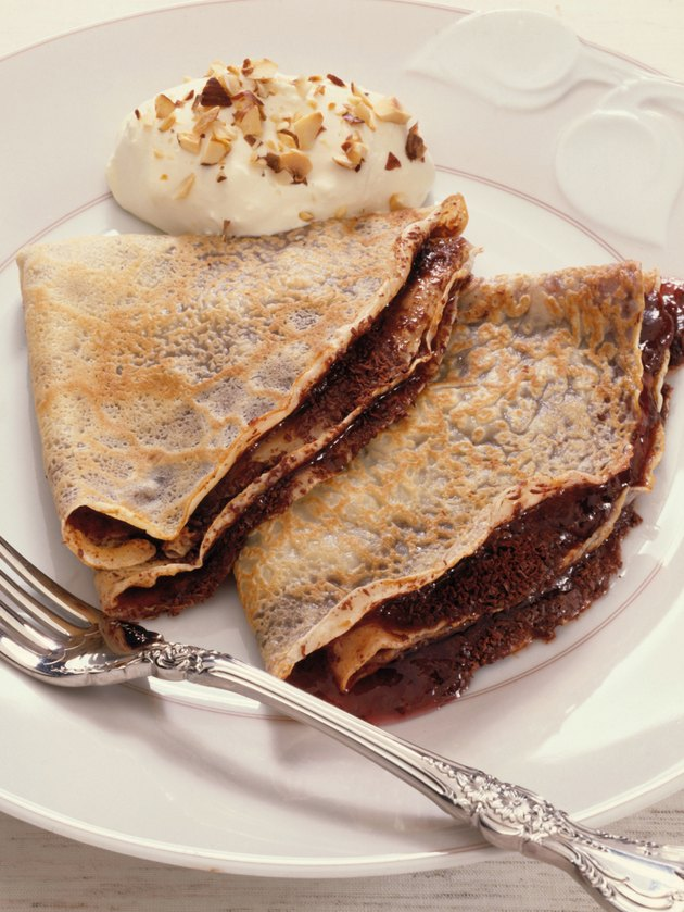 Chocolate crepes dessert