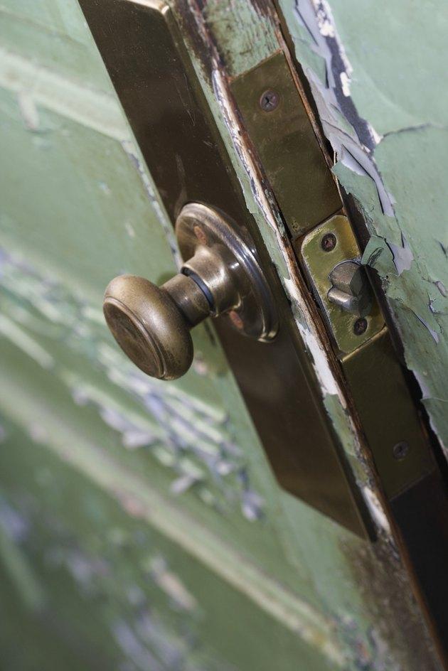 Paint peeling on door