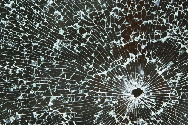 Radiating pattern of shattered safety glass