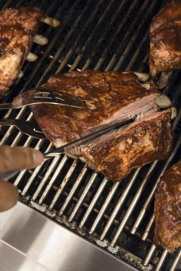 Ribs on barbeque grill