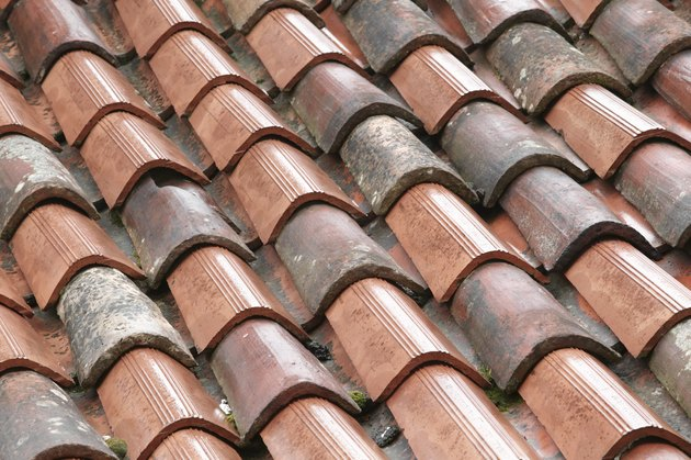 Shingles on a rooftop