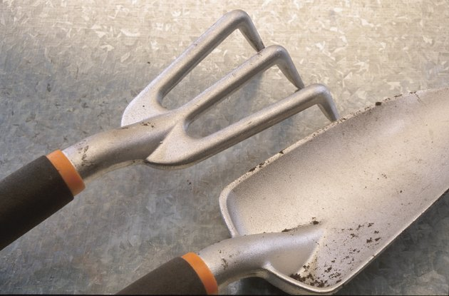 Close-up of gardening tools