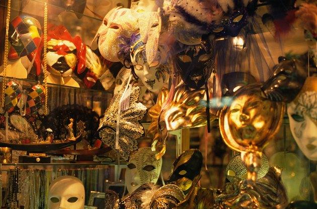 Opera masks in store window