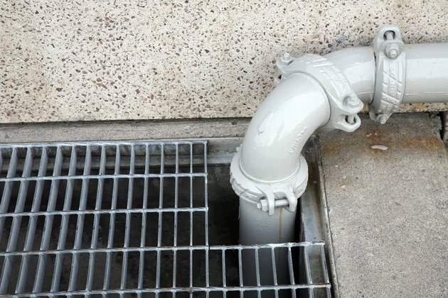 Pipe on wall over vent
