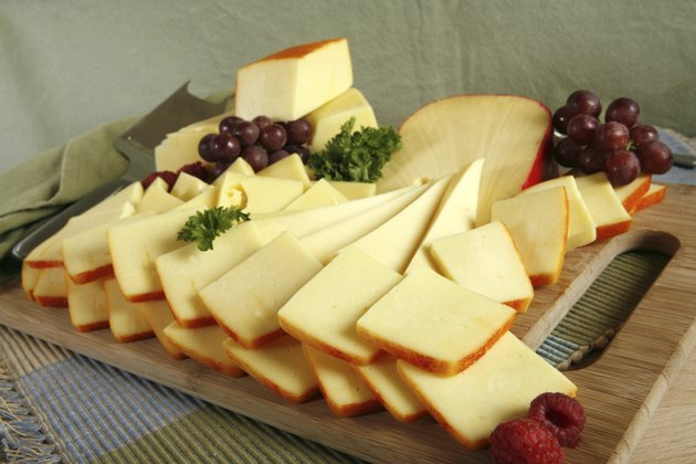 sliced cheese platter