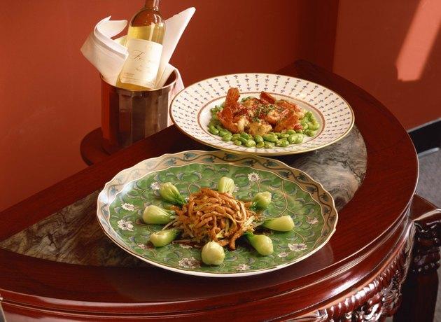 Bok Choy , pork , shrimp , and lima beans