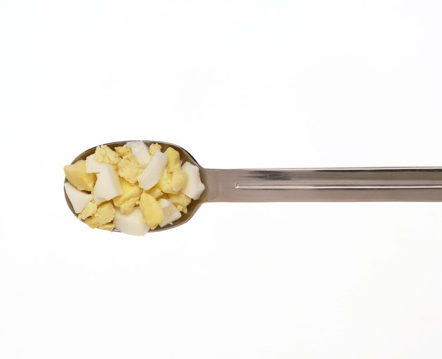 Spoonful of chopped egg