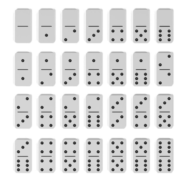 3d rendering of domino set
