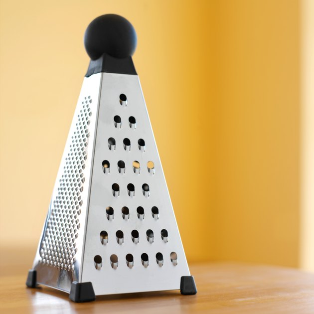 close up view of a grater