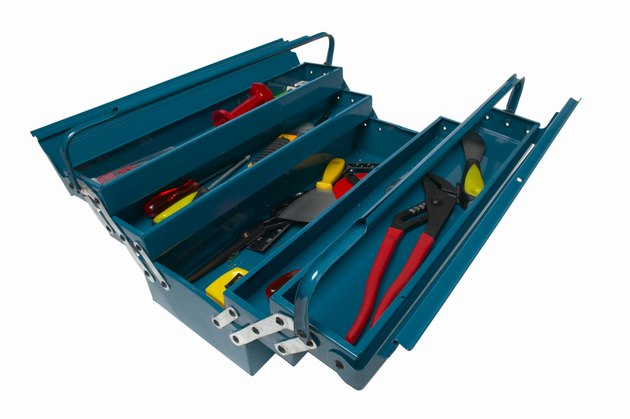 Elevated view of a tool box
