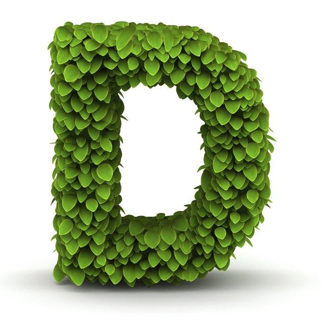 Leaves font letter D