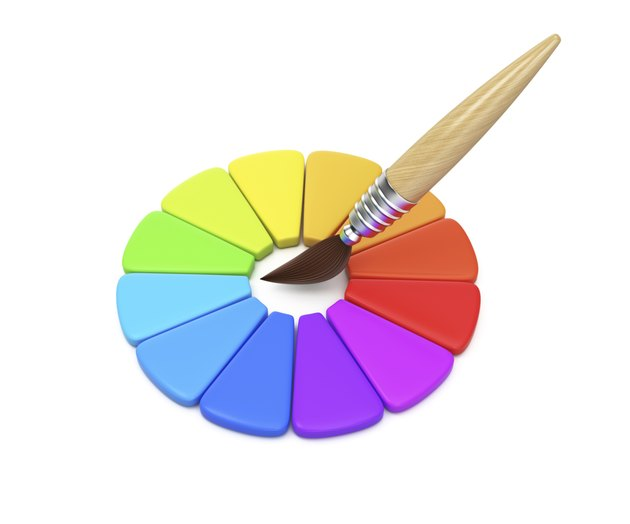 Color wheel and paintbrush