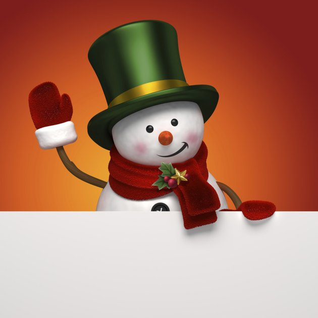 snowman greeting banner
