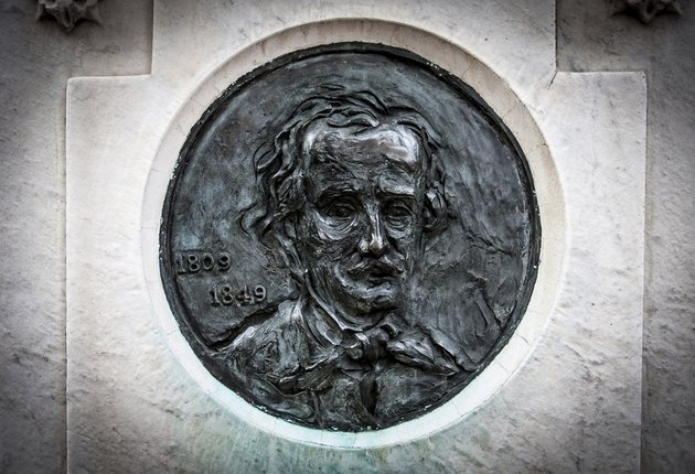 Edgar Allan Poe Likeness on His Tombstone