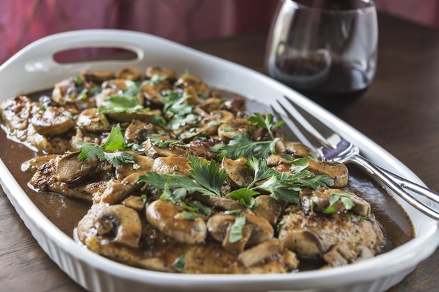 Chicken Marsala with wine