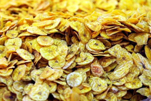 Banana chips at a stall