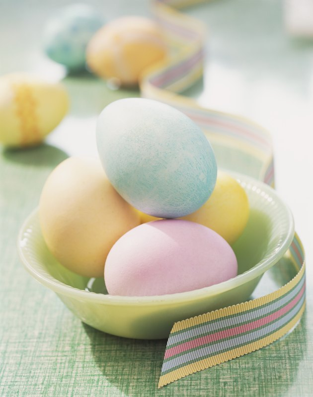 Bowl With Painted Easter Egg
