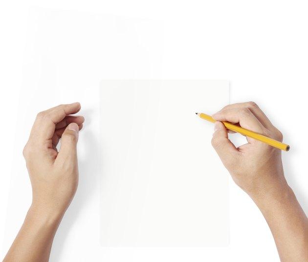 pencil writting something