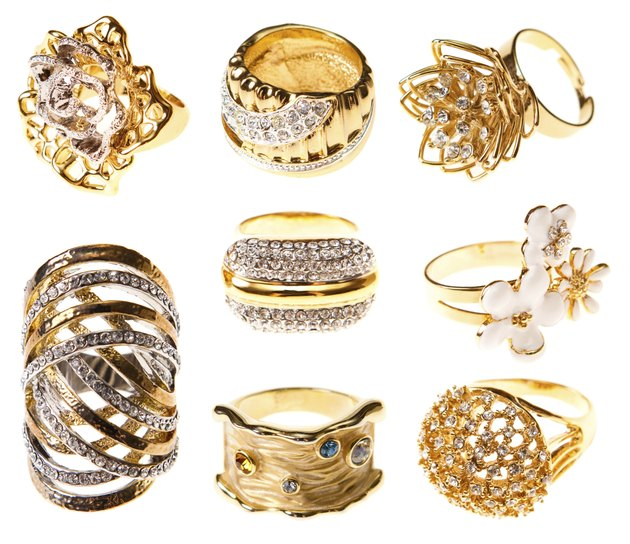 """""""set gold rings, isolated"""""""