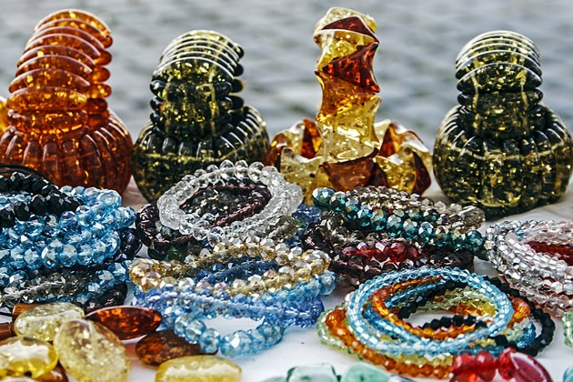 Colorful bracelets and trinkets