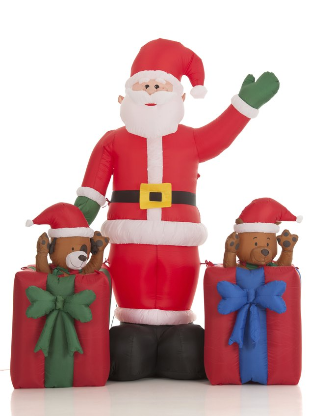Inflatable Santa Clause Lawn Decoration (Isolated)