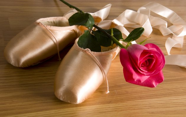 Ballet slipper - shoes with rose