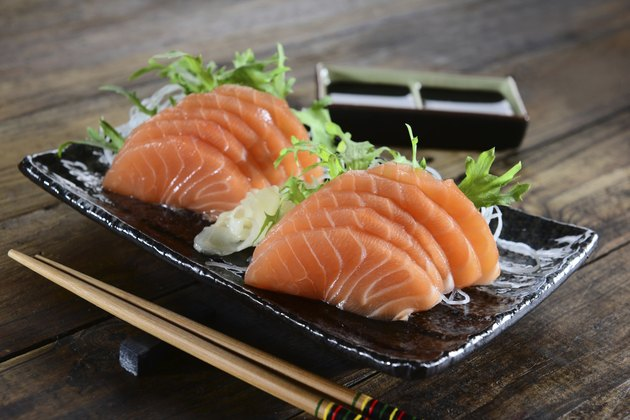 Japanese food - Salmon sashimi