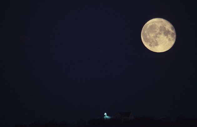 Full moon and night sky