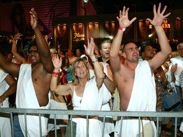 Jenny McCarthy Hosts Caesars Palace 40th Anniversary Toga Party