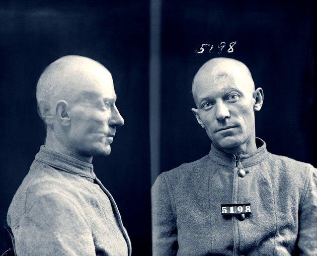 Vintage image of mugshot