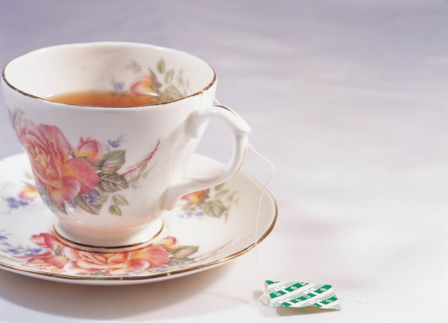 Tea in porcelain teacup