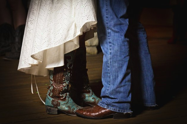 Bride and Groom Dancing Boots