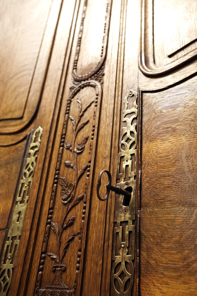 Ornate door and key