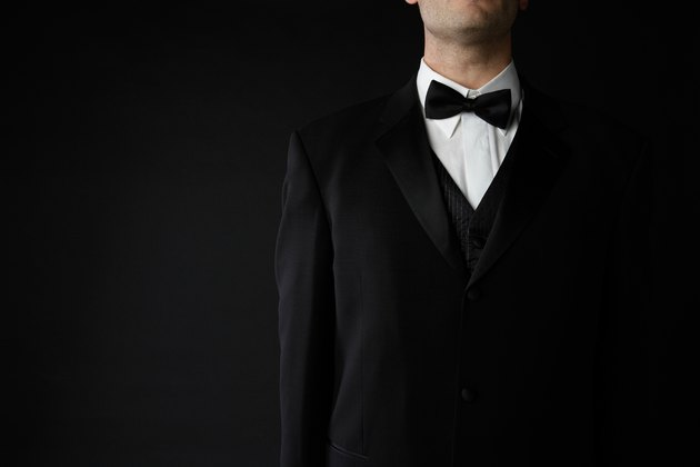 Man posing in formal attire