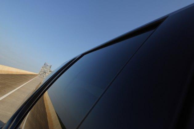 Car driving on desert road