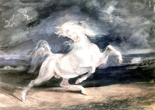 'White horse' by Eugene Delacroix