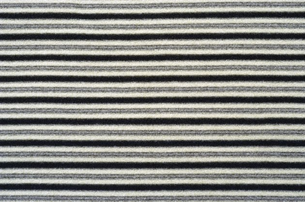 Close-up of striped fabric swatch
