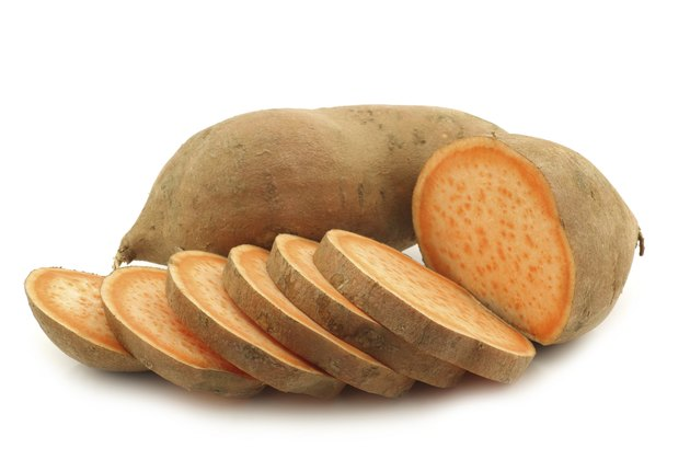 sweet potato and a cut one