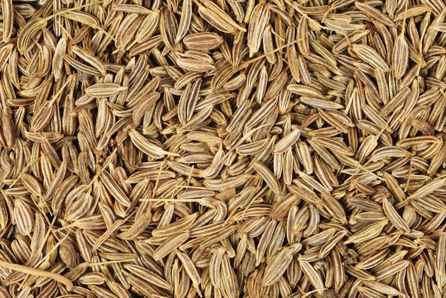 cumin seeds macro as background