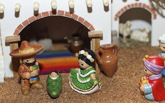 Mexican Hispanic Nativity with Joseph