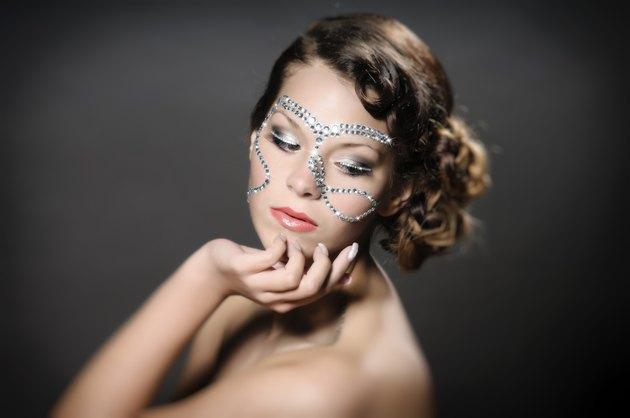 Girl with diamond make up
