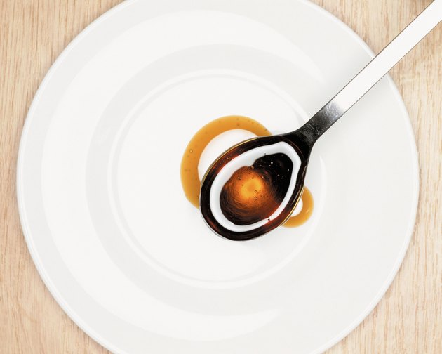 Spoon of syrup