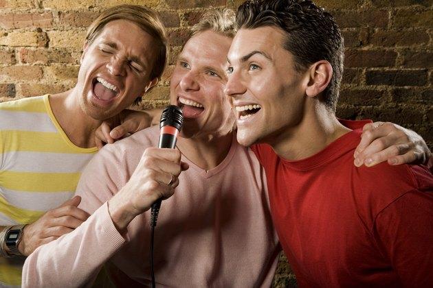 The men singing karaoke