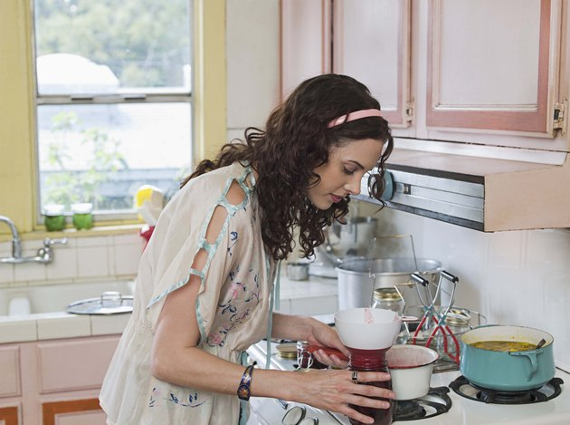 Woman with preserves